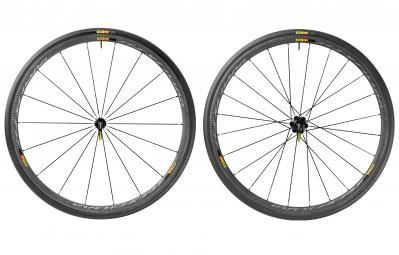 mavic 2016 paire de roues ksyrium pro carbone sl pneu yksion pro 25 mm