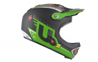 casque integral urge down o matic veggie vert noir