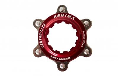 ashima adaptateur center lock rouge pour montage 6 trous