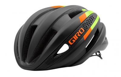 casque giro synthe noir vert orange