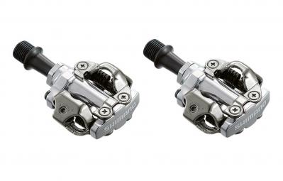 shimano paire de pedales spd pd m540 argent
