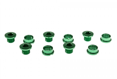 ice kit de 5 vis cheminee r bolt 6 5mm vert