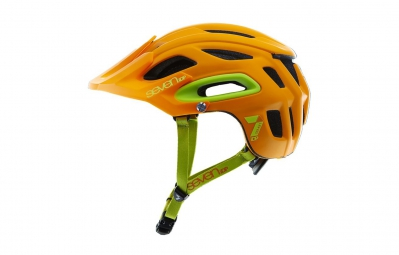 casque seven m2 orange fluo mat jaune