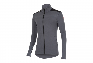 castelli maillot manches longues meccanico sweater gris