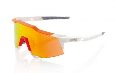 100 lunettes speedcraft sl blanc orange ecran iridium orange