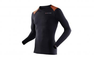 x bionic t shirt manches longues speed running noir