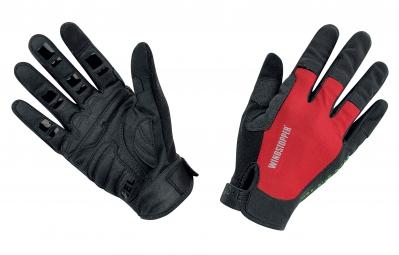 gore bike wear gants power trail windstopper light noir rouge