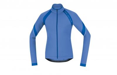 gore bike wear maillot power 2 0 lady thermo bleu