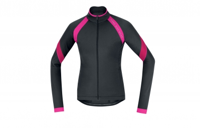 gore bike wear maillot power 2 0 lady thermo noir rose