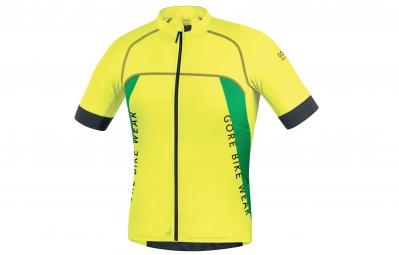 gore bike wear maillot alp x pro jaune vert