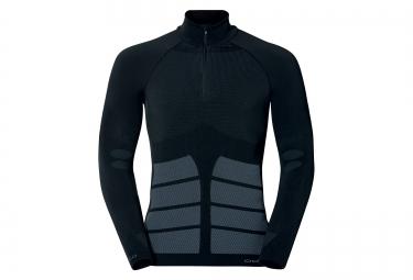 odlo t shirt manches longues evolution warm zip noir
