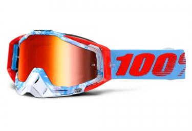 100 masque racecraft bobora bleu ecran iridium rouge