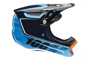 casque integral 100 aircraft bi turbo bleu