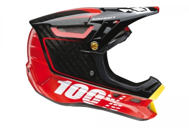 casque integral 100 aircraft bi turbo rouge