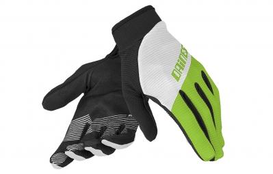 dainese gants longs rock solid c blanc vert