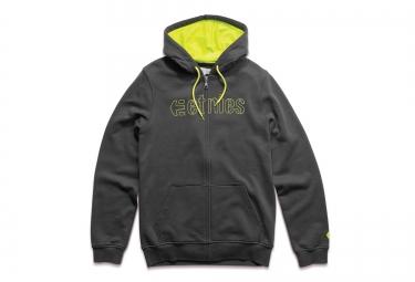 etnies sweat a capuche corp stitch zip noir jaune