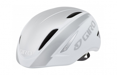 casque giro air attack blanc argent