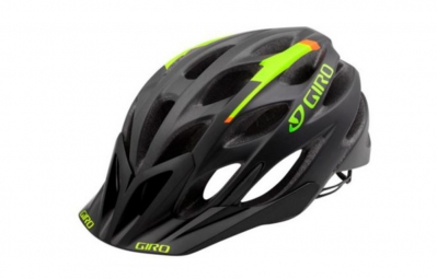 casque giro phase noir vert orange