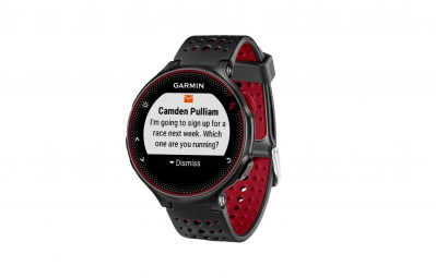 garmin montre gps forerunner 235 cardio frequencemetre integre noir rouge