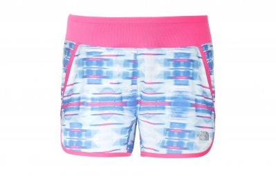 the north face short eat my dust bleu rose femme