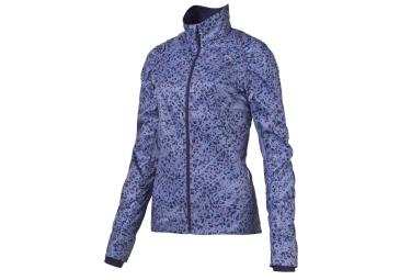 puma veste femme coupe vent graphic bleu
