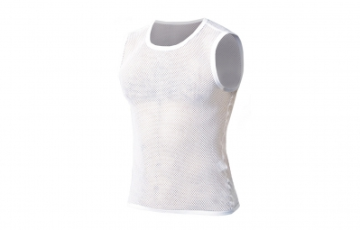 maillot sans manches biotex net flat seam blanc