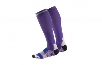 skins chaussettes de compression actives essentials femme violet