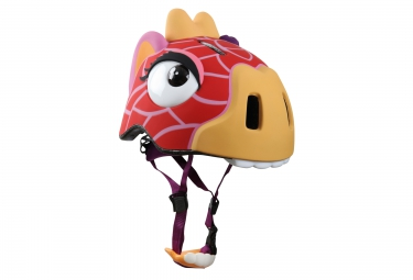 casque enfant crazy safety giraffe 3 a 6 ans rouge