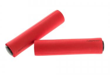 neatt paire de grips silicone 130 mm rouge