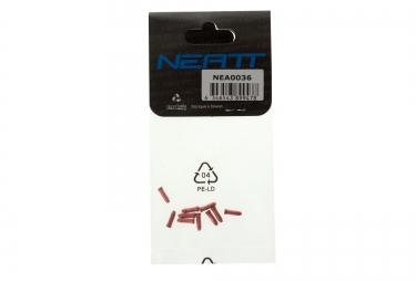 neatt embouts de cable de derailleur 10 pieces rouge