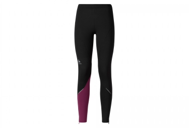 odlo collant long gliss femme running noir violet