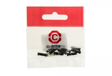 clarks embout cable de frein noir vendu par 10