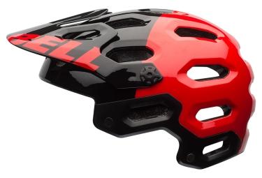 casque bell super 2 rouge noir
