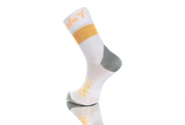 paire de chaussette rafa l carbone celeste 2 blanc orange fluo