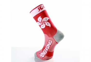 paire de chaussette rafa l carbone selection hong kong rouge blanc