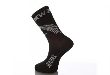 paire de chaussette rafa l carbone selection new zealand noir gris