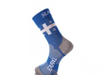 paire de chaussette rafa l carbone selection quebec bleu blanc