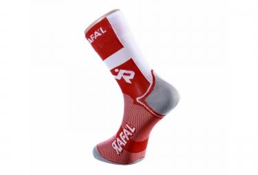 paire de chaussette rafa l carbone selection suisse rouge blanc
