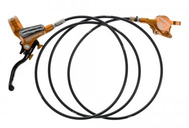 hope frein arriere tech 3 x2 orange durite standard noir sans disque ni adaptateur