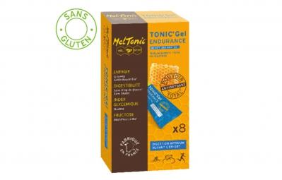 meltonic 8 gels energetiques ultra endurance miel ginseng orange