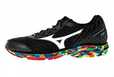 mizuno chaussures wave rider 19 osaka noir multi color femme