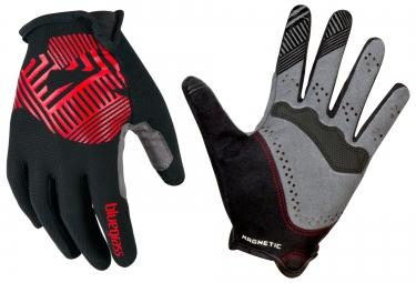 bluegrass paire de gants magnete rock noir rouge