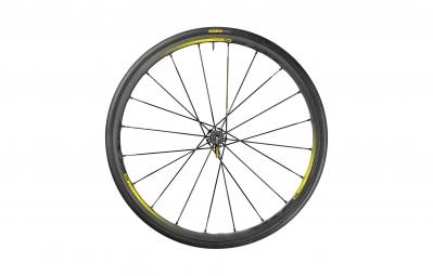 mavic 2016 roue arriere r sys slr pneu yksion pro 25mm corps shimano sram noir jaune