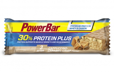 powerbar barre proteinee 30 protein plus 55gr cappuccino caramel crisp