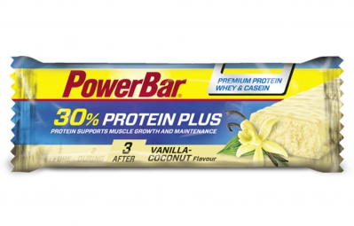 powerbar barre proteinee 30 protein plus 55gr vanille noix de coco