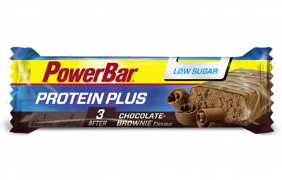 powerbar barre protein plus low sugar 35gr chocolat brownie