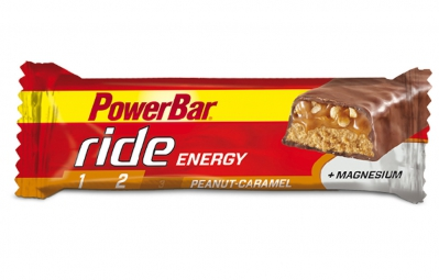 powerbar barre ride energy 55gr cacahuete caramel