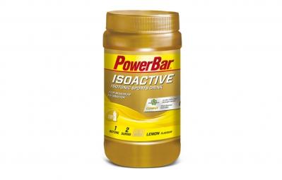 powerbar boisson energetique isoactive citron 600gr