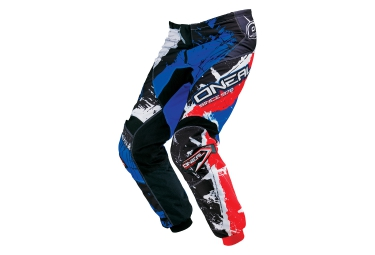 pantalon enfant oneal element shocker noir bleu rouge