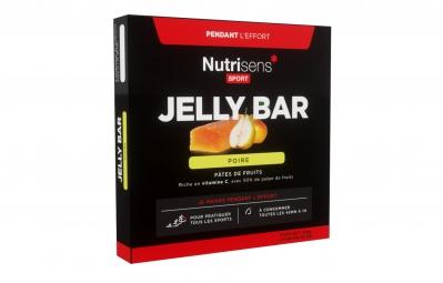 nutrisens pate de fruits jelly bar 25g poire 4 quantites